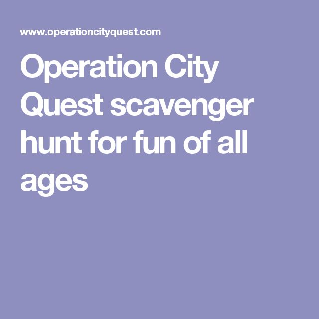 Operation City Quest scavenger hunt for fun of all ages