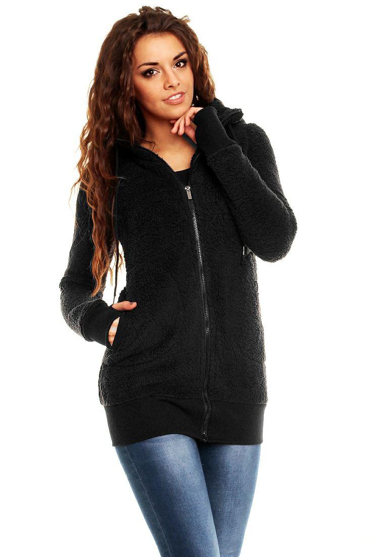 Chaqueta Negra Valentina !Prepárate para el frío! Con nuestra Chaqueta Negra Valentina estarás elegante y sexy. Con capucha, y unos bonitos y originales detalles en las mangas hacen de nuestra chaqueta Polar la mejor de nuestra selección.