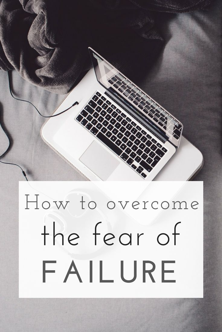 the fear of failing Rather than looking at failure as such a negative process, we should turn it into a more positive one one, that we can control rather than the other way around.