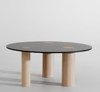 """Simple table""  Working/dining table from our Simple series.  Powdercoated steel and compact laminate."