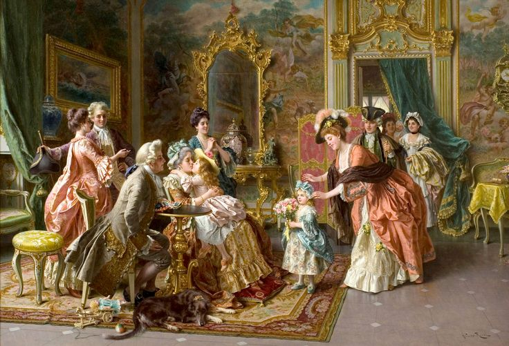 The Birthday Party, Arturo Ricci (1854-1919). Click on image and you'll be taken to a site where you can zoom in to the detail. Quite outstanding! :)
