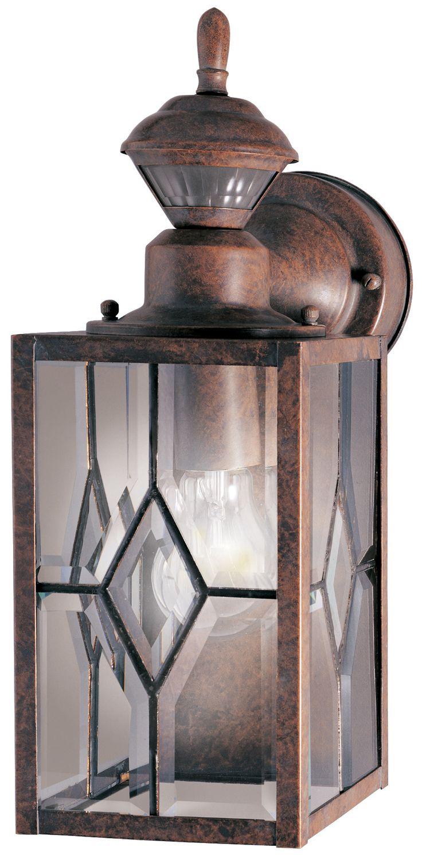 motion activated 1 light wall lantern security light - Motion Sensor Outdoor Light