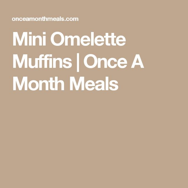Mini Omelette Muffins   Once A Month Meals