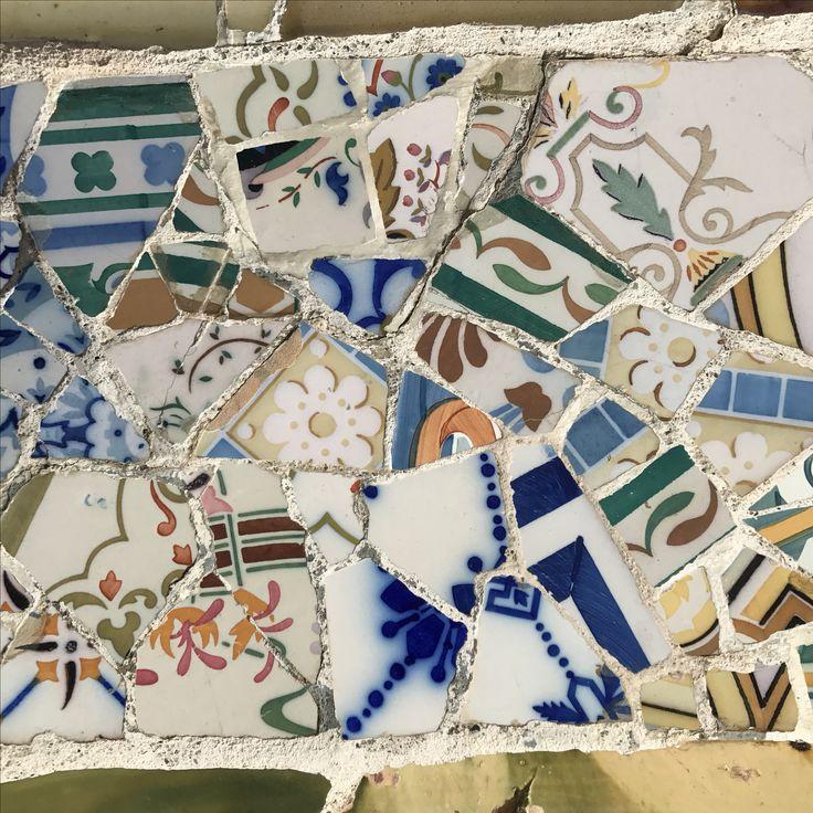 Mosaics, Park Guell, Barcelona, Spain 🇪🇸  @_shutterbug_bec_