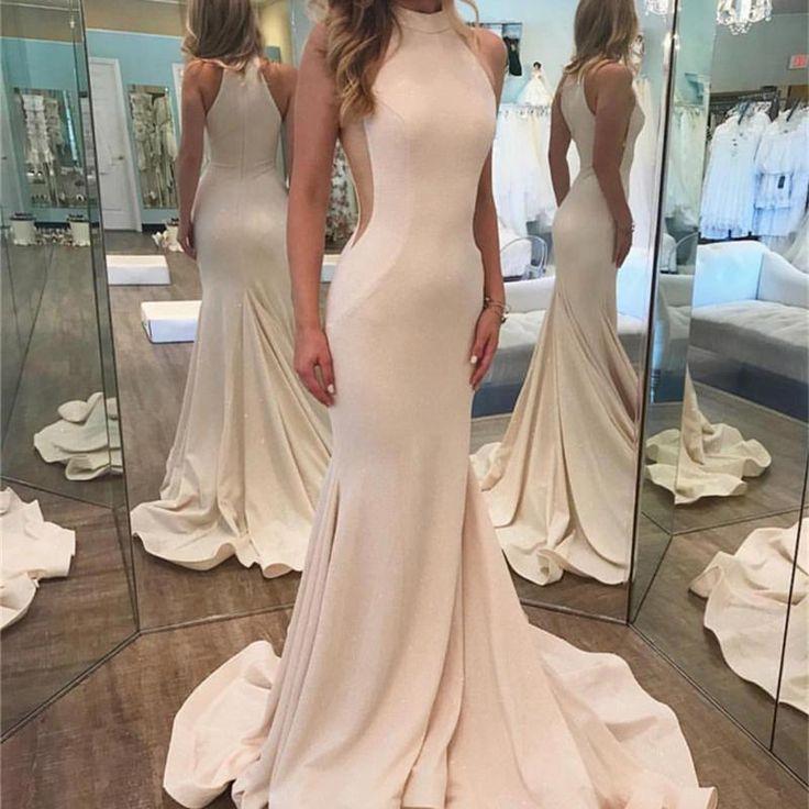 Sexy Sleeveless Prom Dress, Mermaid Prom Dresses, Long