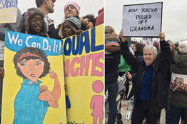 Here Are All The Best Signs From Women's Marches Across America