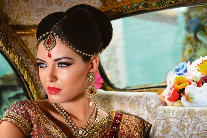 Featured in Kush Wedding Magazine 2013 #malikajafrin #malikajafrinmua #temple #asianattire #smokeyeyes #nudelips #mac #kryolan #indianjewllery #blue #kushmagazine