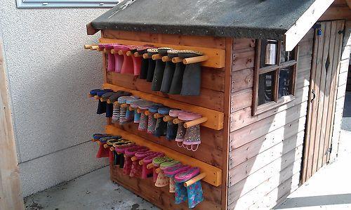 Wellie Rack / Boot rack / Shoe Rack Heavy Duty Colours available | eBay