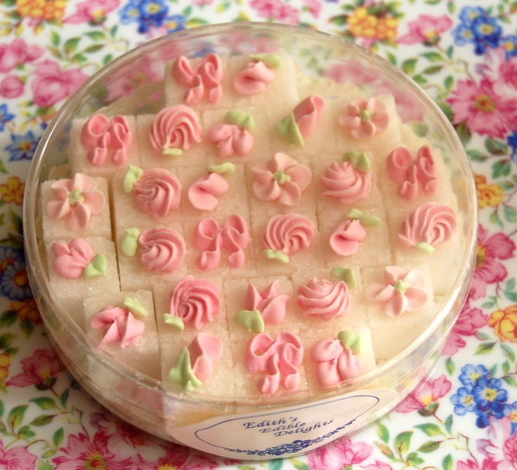 so delicate, decorated sugar cubes