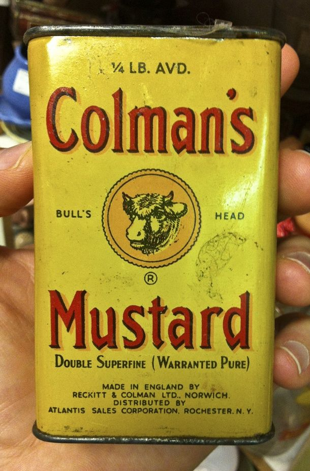 ...when mustard used to come in a tin