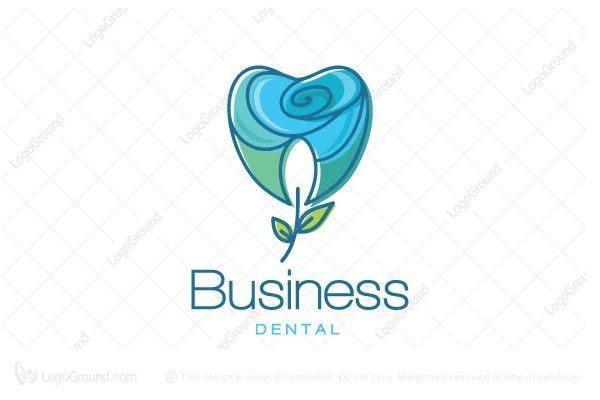 Logo for sale: The Blue Rose Dental  Logo