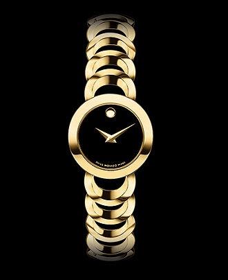 Movado Watch, Women's Swiss Rondiro Gold Plated Stainless Steel Bracelet 22mm 0606253 - Movado - Jewelry & Watches - Macy's