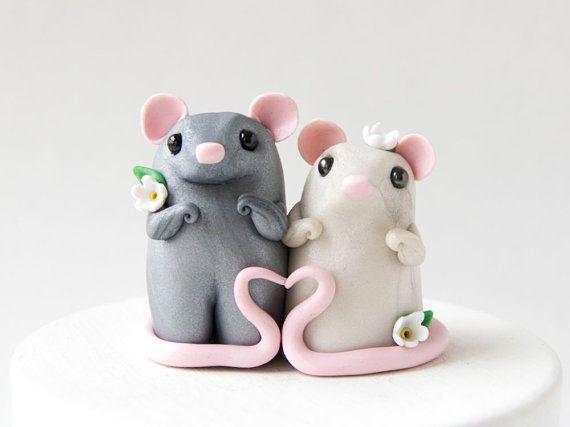 Mouse Wedding Cake Topper by Bonjour Poupette by BonjourPoupette, $100.00