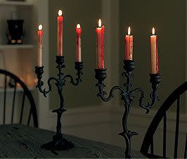 spooky candelabras