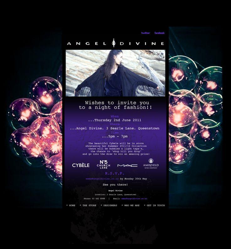 Angel Divine - email invitation