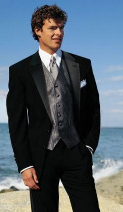 black tuxedo with emerald green