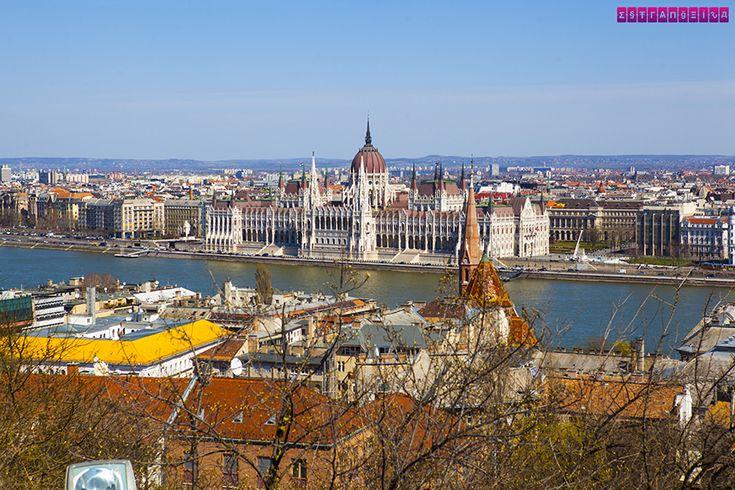 Um pedaço da vista do Fisherman's Bastion. Ficamos 2 dias em Budapeste, na Hungria, e montamos um roteiro com as atrações imperdíveis e preços!