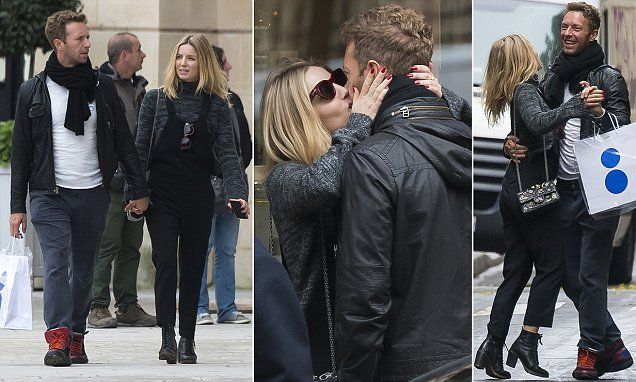 Chris Martin and Annabelle Wallis share passionate kiss in Paris