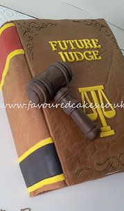 Lawyer Book Cake & Gavel