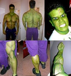 More detailed photos of the Incredible Hulk costume. Mike's project