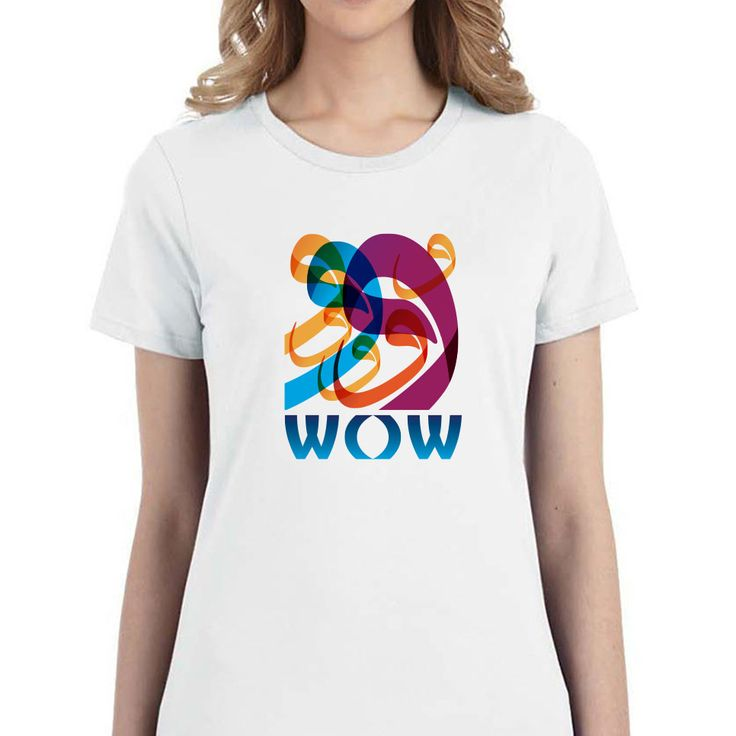Wow women t shirt shop arabic calligraphy items Arabic calligraphy shirt