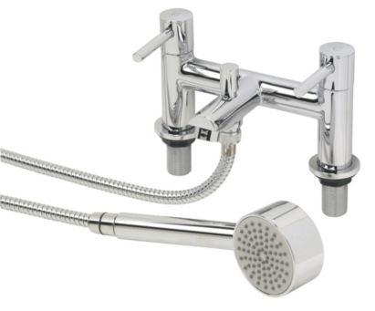 Swirl Essential Dual Lever Bath / Shower Mixer Bathroom Taps, 0000001063806