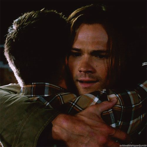 (gif) and...there it is, the brother hug we've all been waiting for! <3