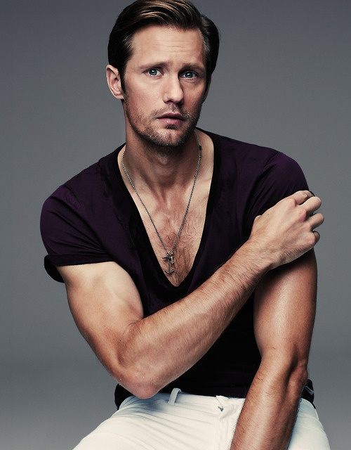 Alexander Skarsgard #TrueBlood. much better looking when not all pasty