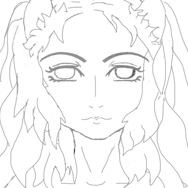 Разукрасить никак не получается( Должны быть зелёные глаза и шоколадные волосы