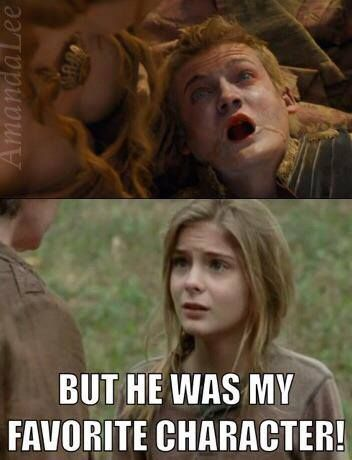 The Walking dead/ Game of Thrones funny memes..Lizzie, he would be your favorite!!