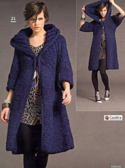 >Женское вязаное пальто. Обсуждение на Блоги на Труде
