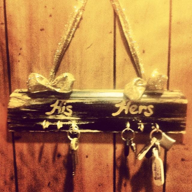 DIY key holder. I was in a crafty mood today!