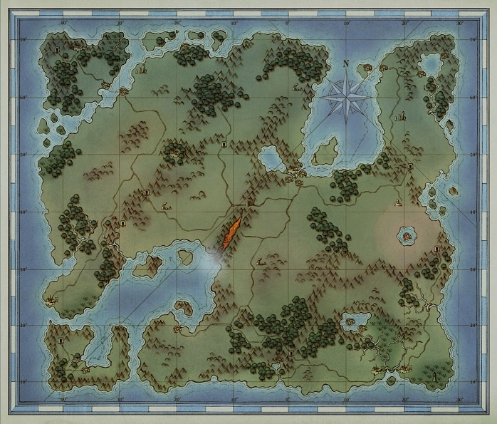 Shroud of the Avatar. Map of the world.