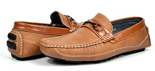 PEPE-3 Bruno HOMME MODA ITALY Men's Fashion Driving Casual Loafers Boat shoes Tan Size 9.5