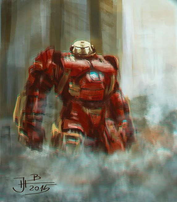 Hulkbuster from Avengers movie... digital painting by me...