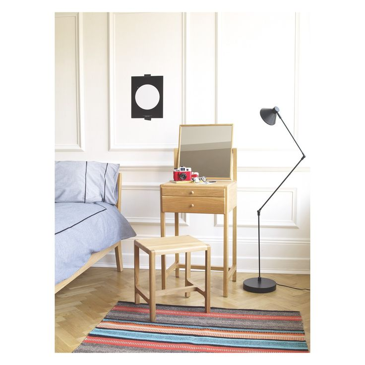 LIMBO Oak dressing table and stool