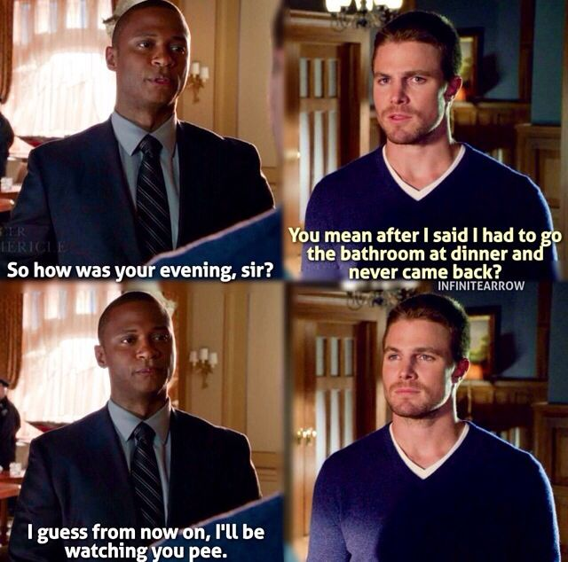 Arrow - John Diggle and Oliver Queen - Where John Diggle is 100% done with Oliver Queen's stupidity.