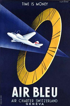 'Air Bleu' Air Charter Geneva, Switzerland http://www.vintagevenus.com.au/vintage/reprints/info/TR255.htm