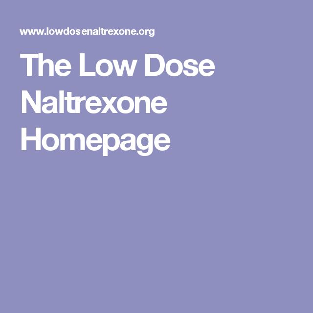 low dose naltrexone and benzodiazepines