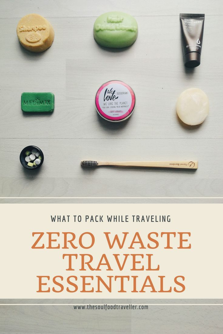 Zero Waste Travel – garbage-free when traveling
