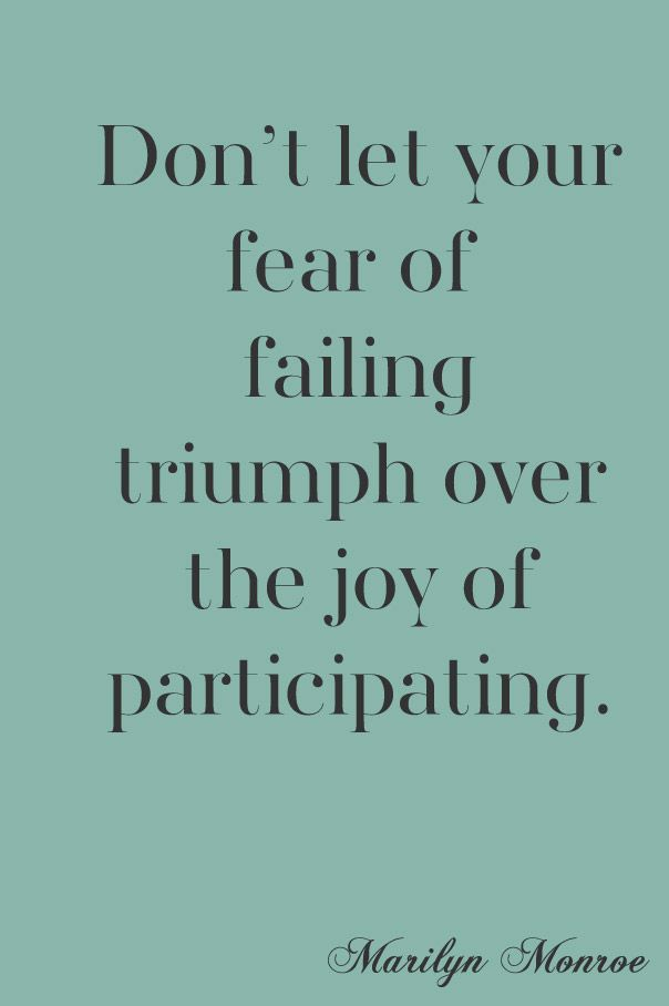 Fear of Failing - great post by @addapinch | Robyn Stone | Robyn Stone
