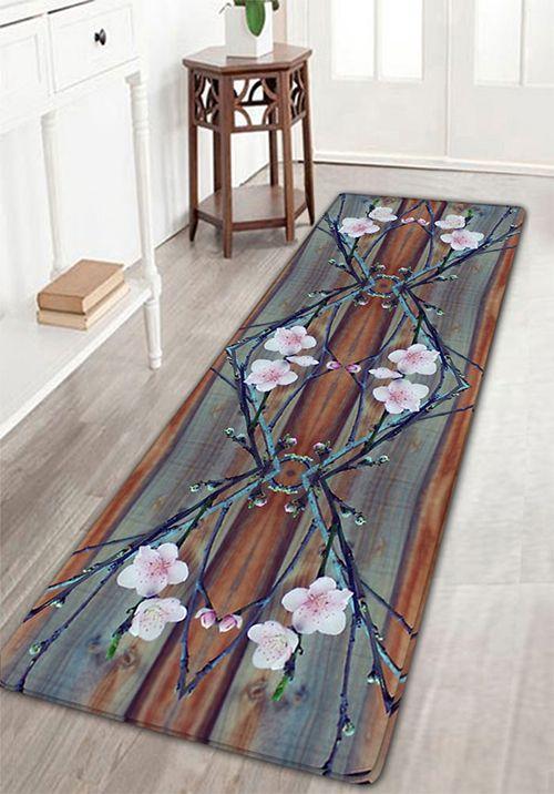 home decor:Blossom Print Flannel Antiskid Rug