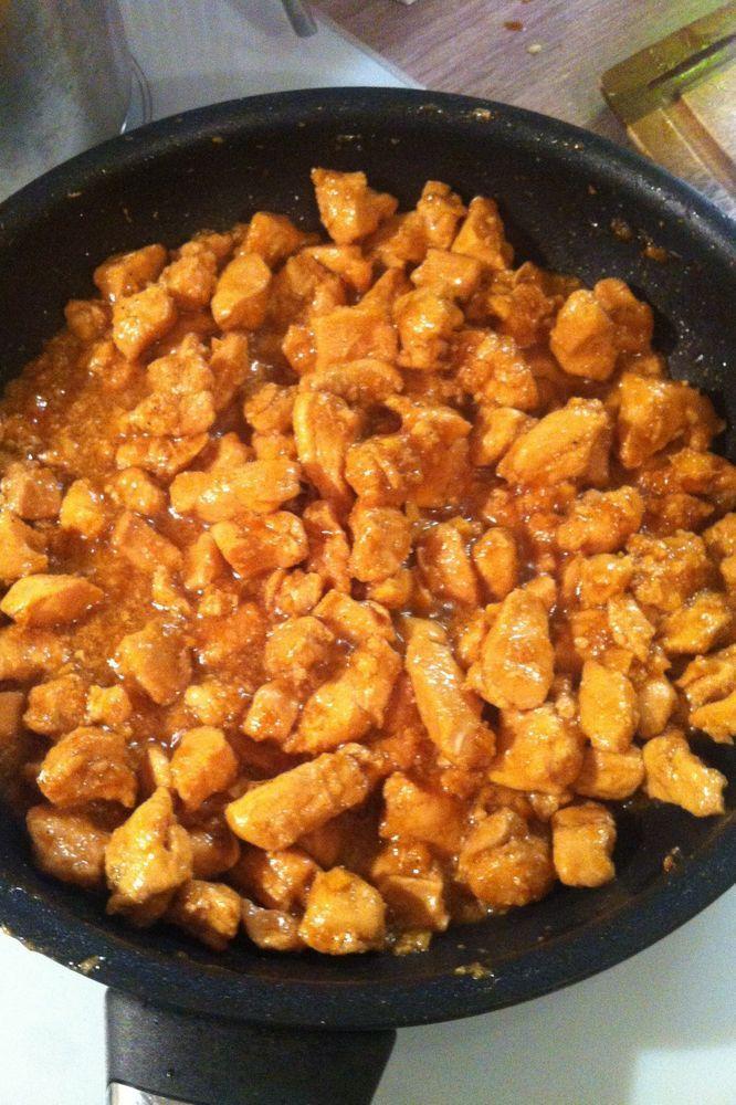 Курица по‑восточному с медом и имбирем