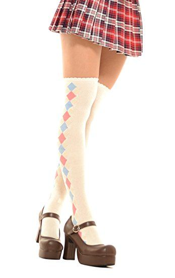 80fcca8a5b5 Lolita Charm Moon Power Over Knee Socks-Pink at Amazon Women s Clothing  store