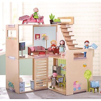 HABA Puppenhaus Villa Frühlingsmorgen 301781 Ab 3 Jahre aus Holz + BONUS • EUR 62,59 - PicClick DE