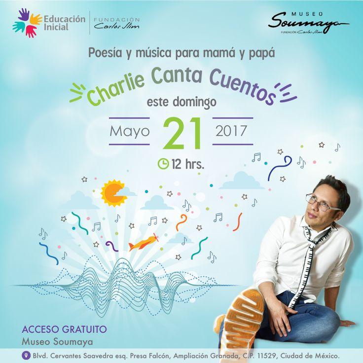 Acompañamos en el Museo Soumaya este Domingo21 de mayo, en la #CDMX con toda tu #Familia.  #Gratis #Música #Concierto #invitación #infantil #PadreDEFamilia