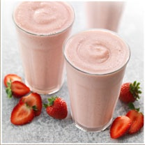 Low-Fat Strawberry Smoothie  with Ginseng #panerabread