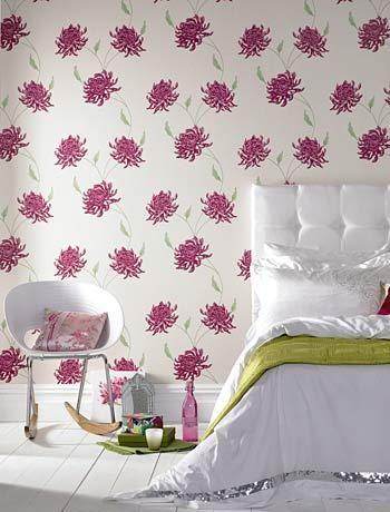 pink flower bedroom wallpaper bedroom pinterest