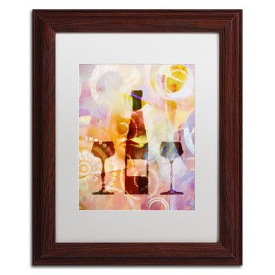 Trademark Art 'Wine For Two' by Adam Kadmos Framed Graphic Art Size:
