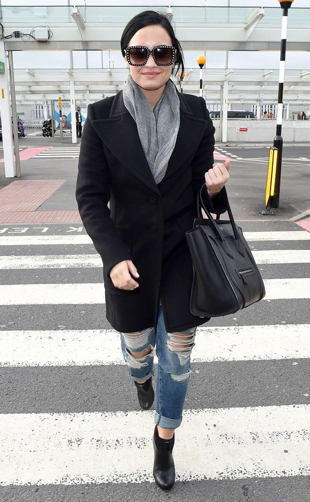 Demi Lovato from The Big Picture: Today's Hot Pics  The pop star struts her stuff at Heathrow Airport.